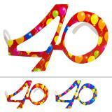 """Bunte Partybrille """"40. Geburtstag"""""""