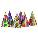 Bunte Partyhüte 6er Pack