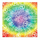 """Buntes Bandana """"Peacezeichen"""" 57 cm"""
