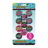 "Party-Buttons ""Freaky Fashion"" 10er Pack"