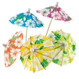 Cocktail-Schirmchen Hawaii 24er Pack
