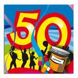 """Cocktailservietten 50. Geburtstag """"Partyspaß"""" 20er Pack"""
