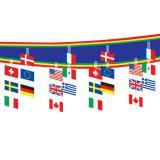 Deckendeko Internationale Flaggen 30cm x 3,7 m