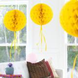 "Deckenhänger ""Ball aus Wabenpapier"" 30 cm-gelb"