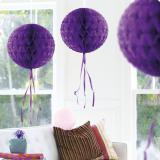 """Deckenhänger """"Ball aus Wabenpapier"""" 30 cm-lila"""