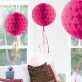 """Deckenhänger """"Ball aus Wabenpapier"""" 30 cm-pink"""