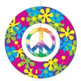 """Deckenhänger """"Flower-Power und Batik-Peacezeichen"""""""