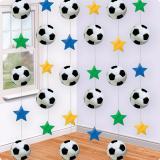 Deckenhänger Fußball mit bunten Sternen 6er Pack 213 cm