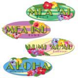 """Dekoschilder """"Olelo-Makua Hawaii"""" 4er Pack 41 cm"""