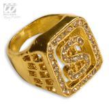 """Diamant-Ring """"Dollarzeichen"""""""