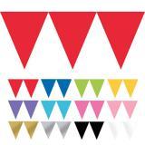 """Einfarbige Papier-Girlande """"Farbenspiel"""" 4,5m"""
