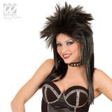 Einfarbige Rockstar Perücke-schwarz