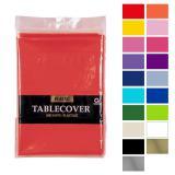 Einfarbige Tischdecke 137 x 274 cm-rot