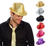 Einfarbiger Pailletten-Hut