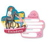 """Einladungskarten """"Bibi und Tina"""" 6er Pack"""