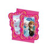 """Einladungskarten """"Die Eiskönigin - Disney"""" 6er Pack"""