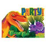 """Einladungskarten """"Dino-Welt"""" 8er Pack"""