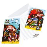 """Einladungskarten """"Kleiner Pirat"""" mit Umschlag 6er Pack"""