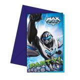 """Einladungskarten """"Max Steel"""" mit Umschlag 6er Pack"""