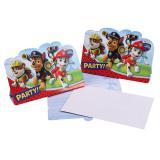 """Einladungskarten """"Paw Patrol"""" mit Umschlag 8er Pack"""
