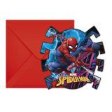 """Einladungskarten """"Spiderman"""" mit Umschlägen 6er Pack"""