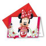 """Einladungskarten """"Süße Minnie Maus"""" 6er Pack"""