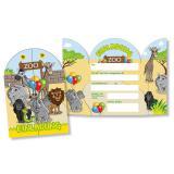"""Einladungskarten """"Willkommen im Zoo"""" 8er Pack"""