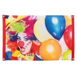 "Banner ""Kunterbunter Clown"" 90 x 60 cm"
