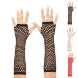 "Fingerlose lange Handschuhe ""Netzoptik"""