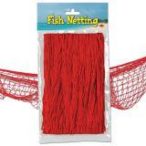 Fischernetz zur Dekoration 370 cm x 120 cm-rot
