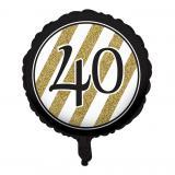 "Folien-Ballon ""Black & Gold 40"" 46 cm"