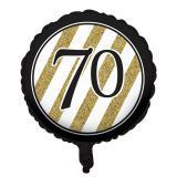"Folien-Ballon ""Black & Gold 70"" 46 cm"