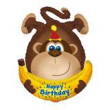 "Folien-Ballon Happy Birthday ""Affenparty"" 87 cm"