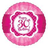 "Folien-Ballon Happy Birthday ""Pretty Pink 30"" 45 cm"