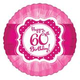 "Folien-Ballon Happy Birthday ""Pretty Pink 60"" 45 cm"