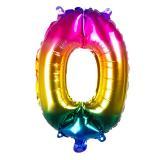 Folien-Ballon in Zahlenform Regenbogen 36 cm-0