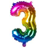 Folien-Ballon in Zahlenform Regenbogen 36 cm-3