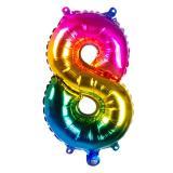Folien-Ballon in Zahlenform Regenbogen 36 cm-8