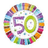 """Folien-Ballon 50 """"Strahlender Geburtstag"""" 45 cm"""