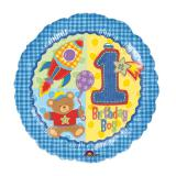 "Folien-Ballon ""Baby-Jungenparty"" 43 cm"