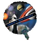 "Folienballon Happy Birthday ""Space Shuttle und Planeten"" 45 cm"