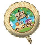 "Folien-Ballon Happy Birthday ""Safari Tour"" 45 cm"