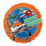 "Folienballon ""Happy Birthday Planes""  43 cm"