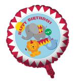 "Folien-Ballon Happy Birthday ""Zirkus"" 45 cm"