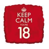 "Folienballon ""Keep calm you're 18"" 46 cm"