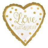 """Folienballon """"Love - always and forever"""" 43 cm"""