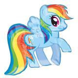 "Folienballon ""Rainbow Dash"" 71 cm"