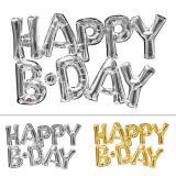 """Folienballon Schriftzug """"Happy B Day"""" 76 x 48 cm"""