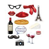 """Foto-Accessoires """"Frankreich"""" 14-tlg."""