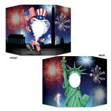 "Fotowand ""Uncle Sam meets Statue of Liberty"" 94 cm"